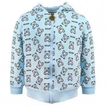 Moschino Zip Up Sweatshirt Blue