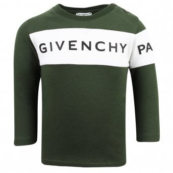 Givenchy Long Sleeve T Shirt Khaki Green
