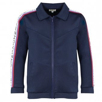 Kenzo Garisson Zip Up Sweatshirt Navy