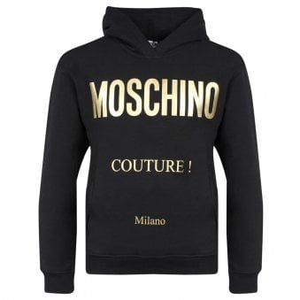 Moschino Hooded Sweatshirt Black