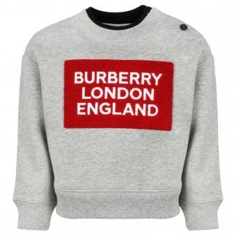 Burberry Mini Fabbio Sweatshirt Grey Melange