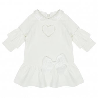 Mintini Baby Dress Off White
