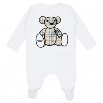 Burberry Bear Onesie White