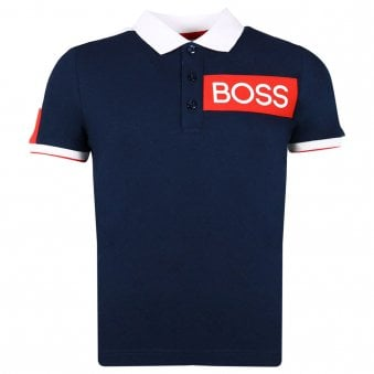 Boss Polo Shirt Navy
