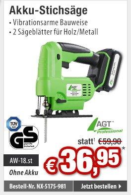 AGT Sägeblatt für Metall zur Stichsäge AW-10.st /& AW-18.st 5 Stück