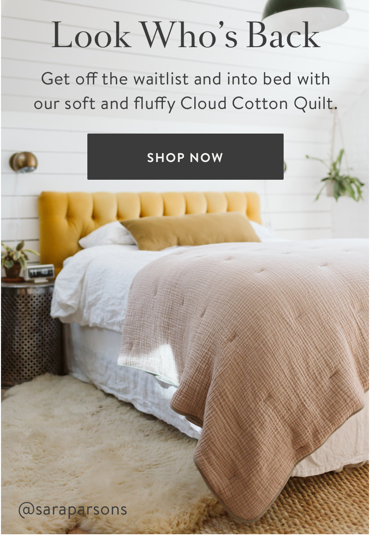 Cloud Cotton Quilt - Smoke and Blush