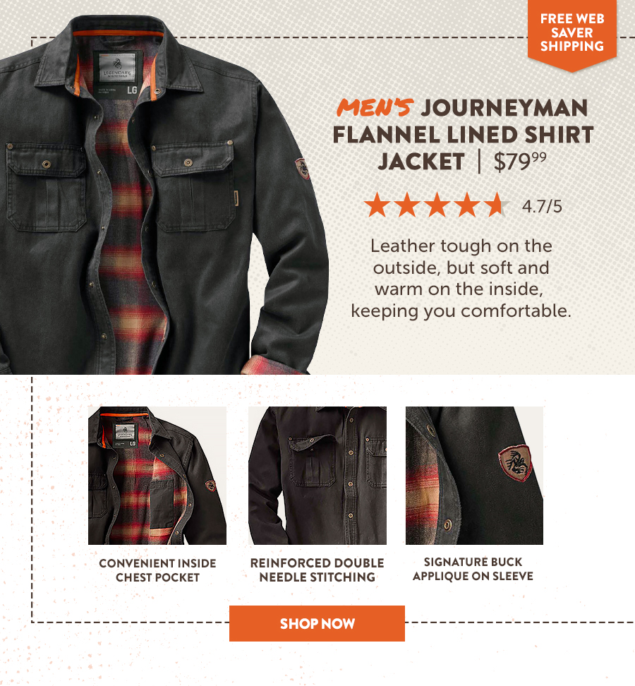 Men's Journey Flannel Lined Shirt Jacket