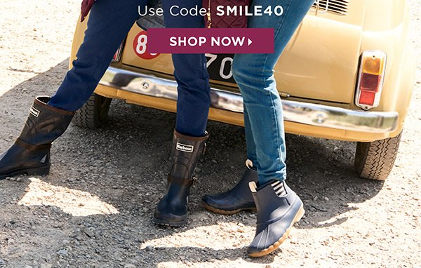 40% off one regular-price item. Online Use Code SMILE40 | Shop Now