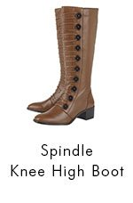 Spindle knee high boot