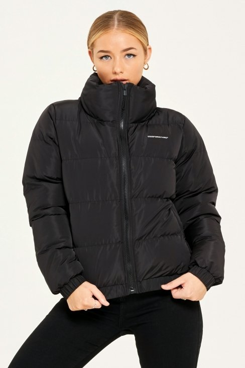 Her Road Black Puffer Jacket