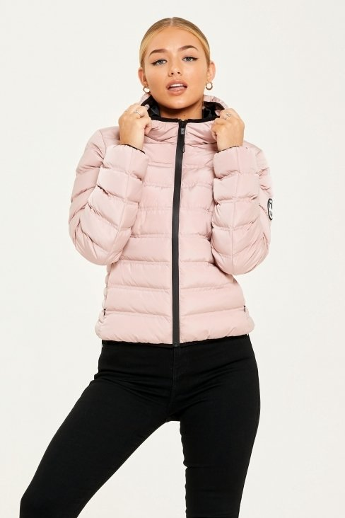 Her Element Nude Pink Puffer Jacket