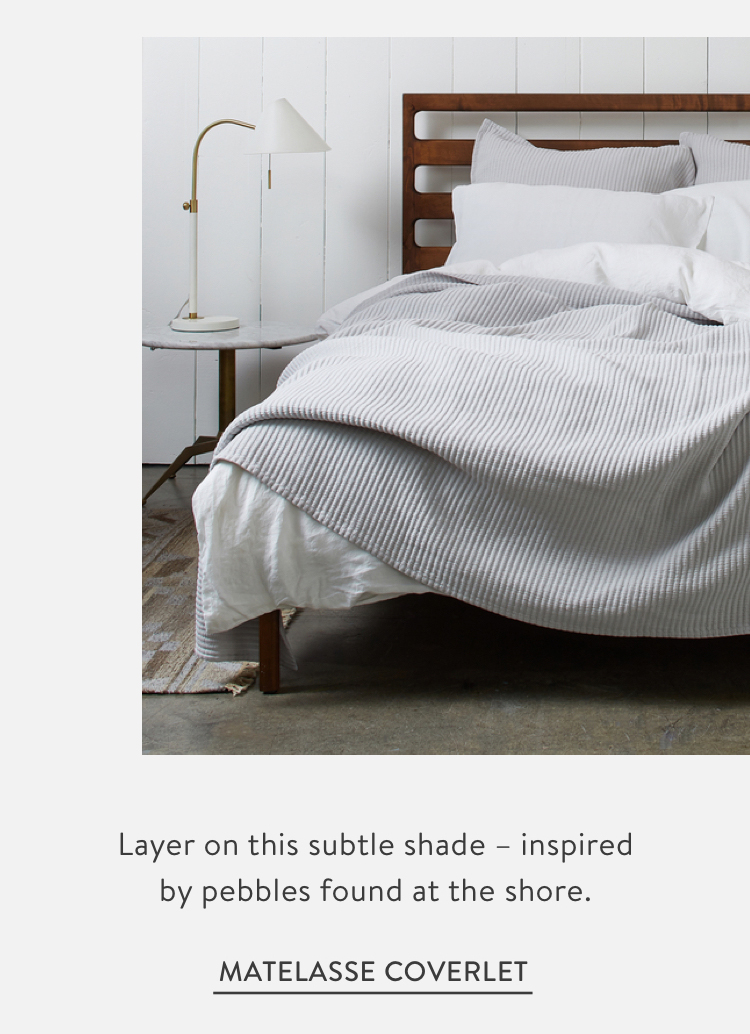 Matelasse Coverlet - Pebble Grey
