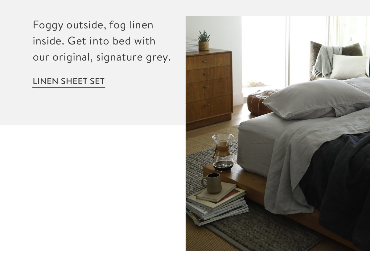 Linen Sheet Set - Fog