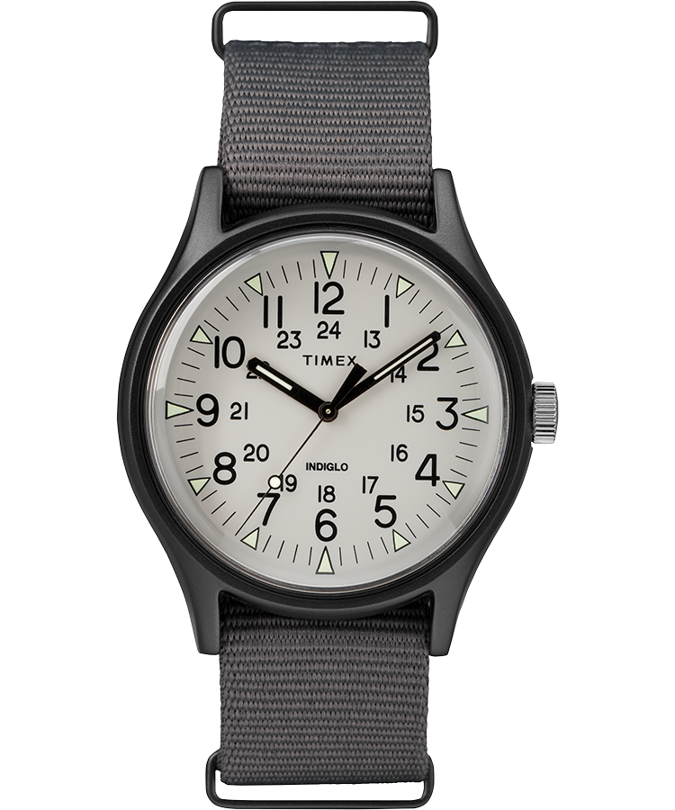Timex Watch Men's Mk1 Aluminum 40MM Fabric Strap Gray | Item # Tw2T10500Vq