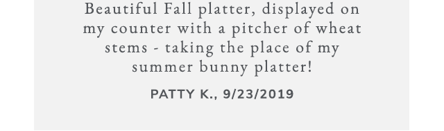 Watercolor Pumpkin Platter