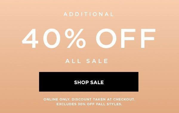 40% Off Shop Sale
