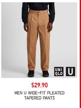 BODY3 PDP6 - MEN U WIDE-FIT PLEATED TAPERED PANTS