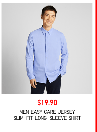 BODY3 PDP2 - MEN EASY CARE JERSEY SLIM-FIT LONG-SLEEVE SHIRT