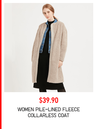BODY3 PDP1 - WOMEN PILE-LINED FLEECE COLLARLESS COAT