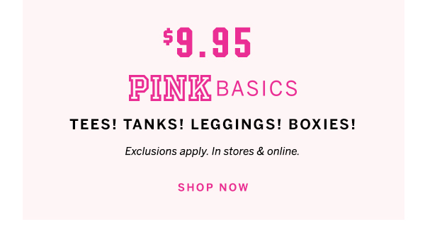$9.95 PINK basics lockup