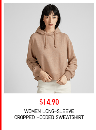BODY3 PDP3 - WOMEN LONG-SLEEVE CROPPED HOODED SWEATSHIRT