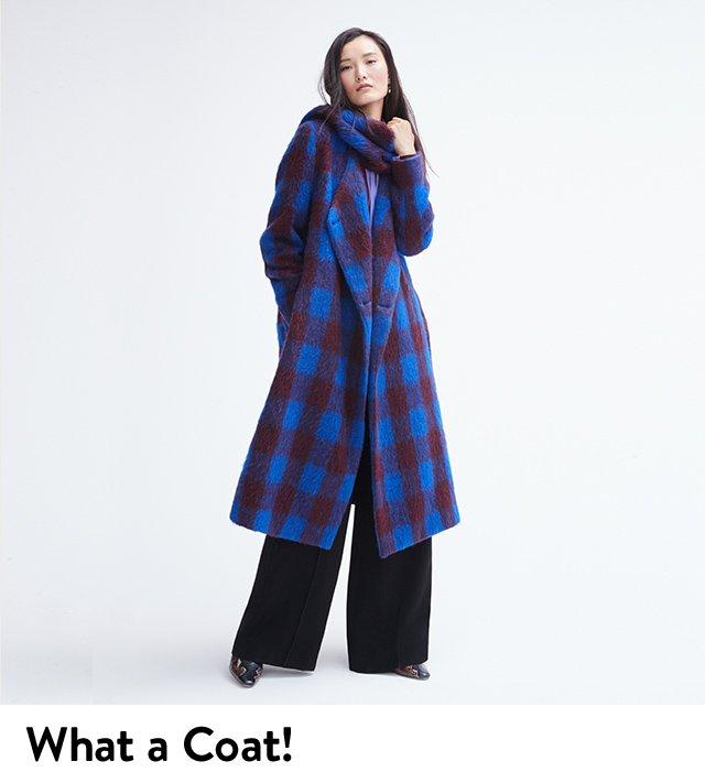 What a coat: women's wool coat.