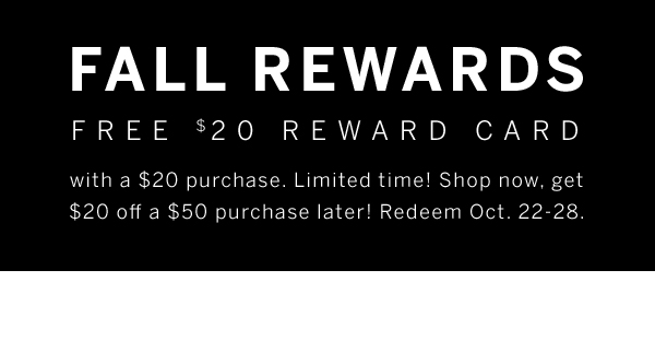 fall reward card
