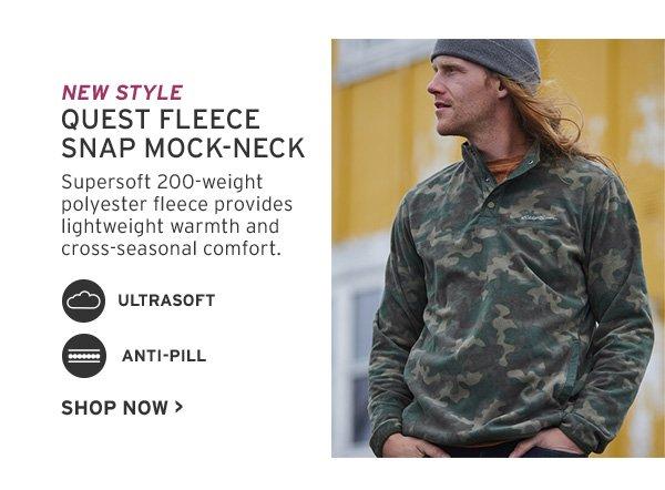 quest fleece snap mock
