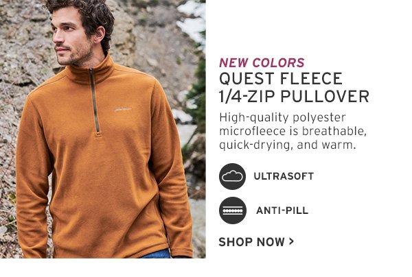 quest fleece 1/4 zip