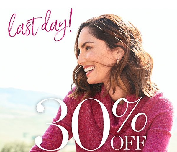 Last day! 30% off All Tops