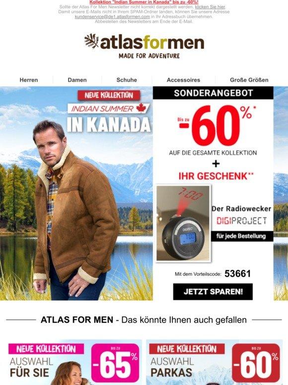 elegant im Stil Sonderangebot große sorten Atlas for Men: Neue Kollektion + Geschenk: Der Wecker mit ...
