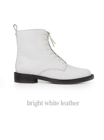 bright white leather