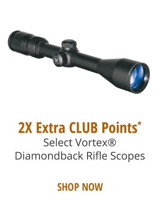2X Extra CLUB Points* Select Vortex®Diamondback Rifle Scopes