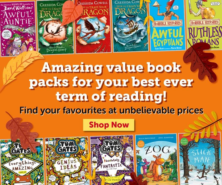 Amazing value book packs for your best ever term of reading!