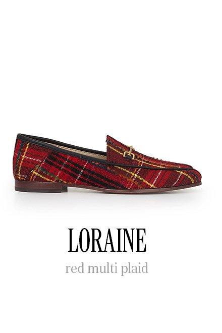 LORAINE red multi plaid