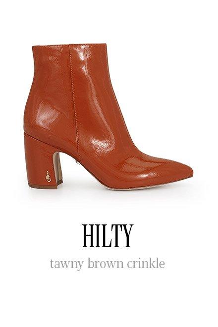 HILTY tawny brown crinkle