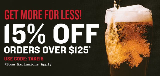 15% Off Orders Over $125