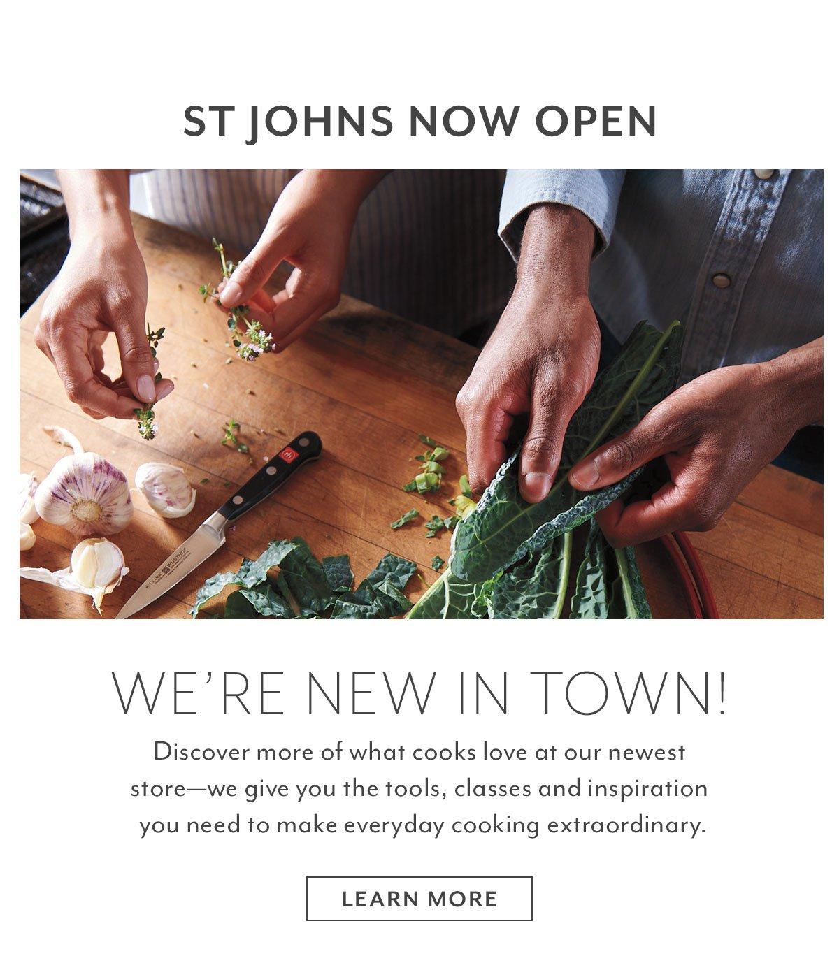 St. Johns Now Open