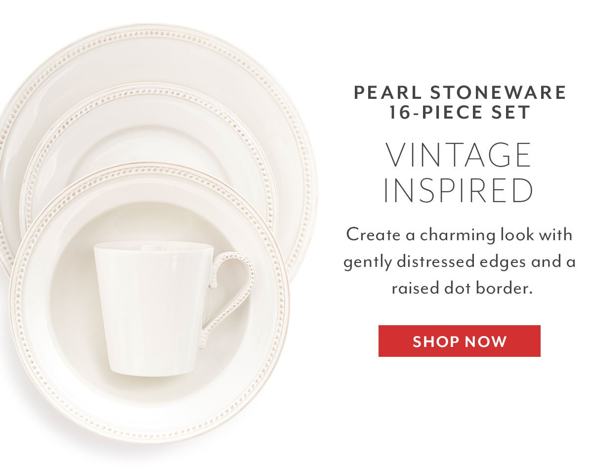 Pearl Stoneware 16-Piece Set