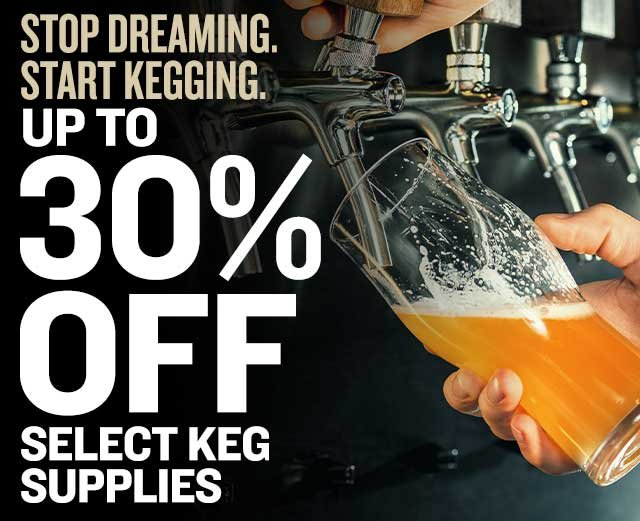 Up to 30% Off Keg Supplies