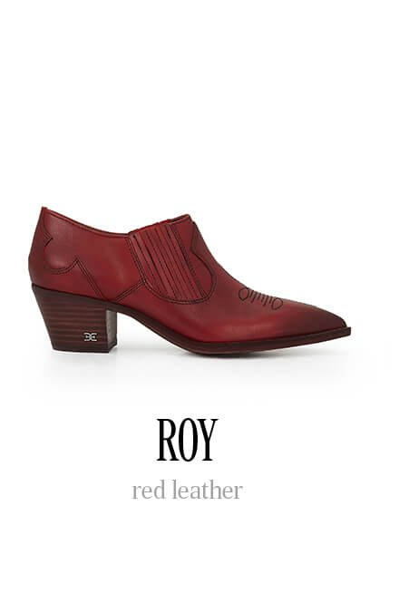 Roy - red leather