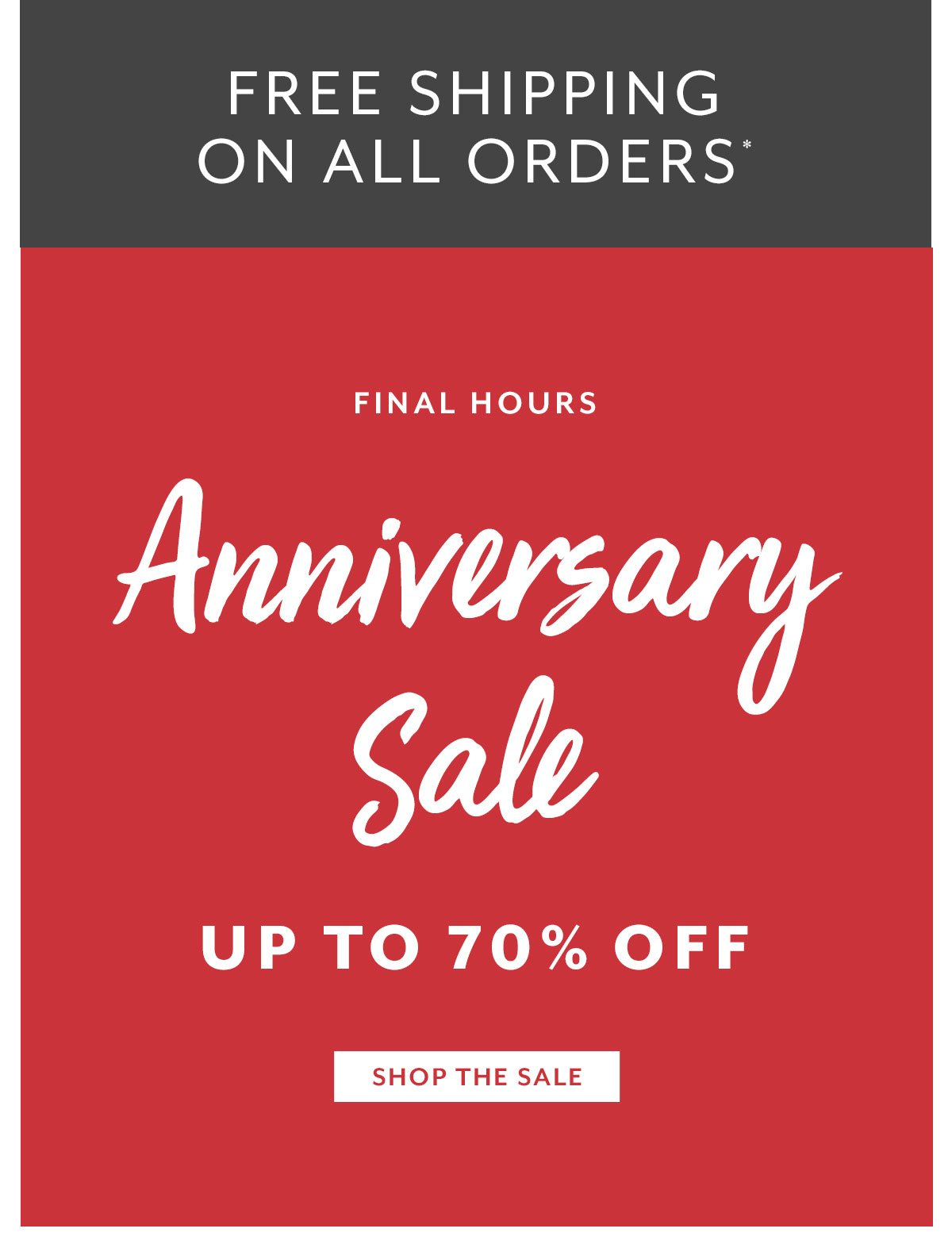 Anniversary Sale • Free Shipping on All Orders