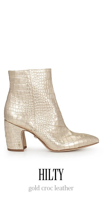 HILTY gold croc leather