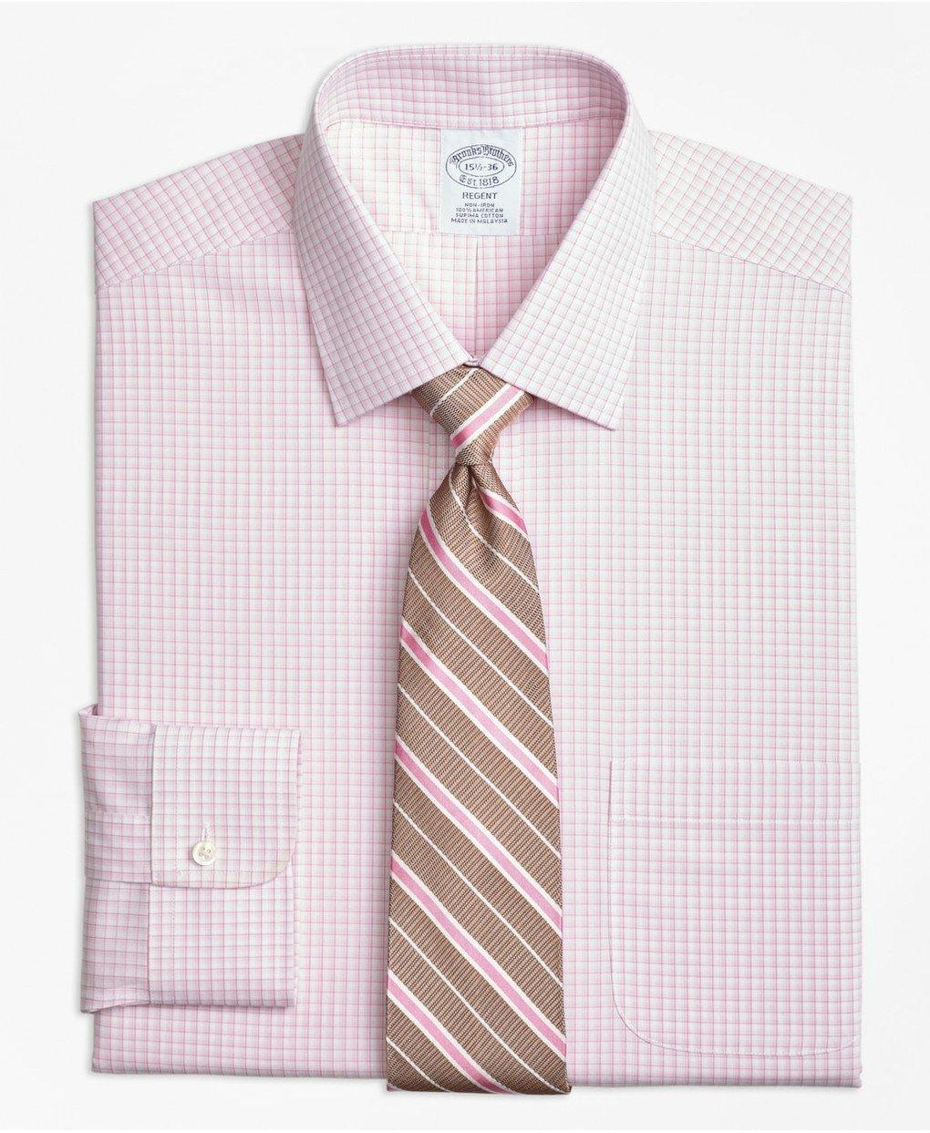 Regent Fitted Dress Shirt, Non-Iron Tonal Sidewheeler Check