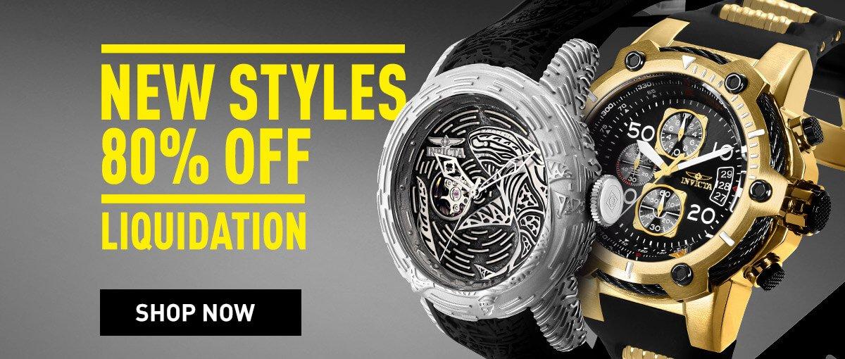 Invicta Liquidation - New Styles Up To 80% OFF