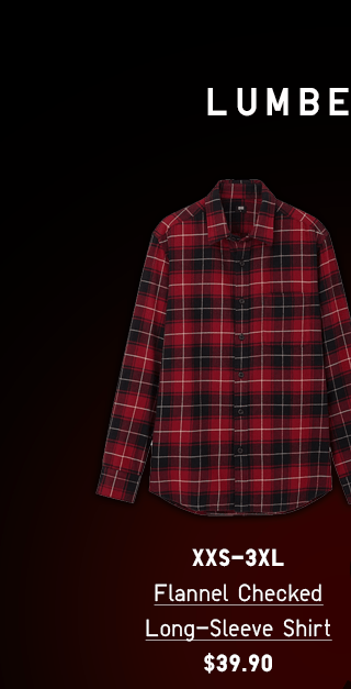 BODY2 PDP1 - MEN FLANNEL CHECKED LONG-SLEEVE SHIRT