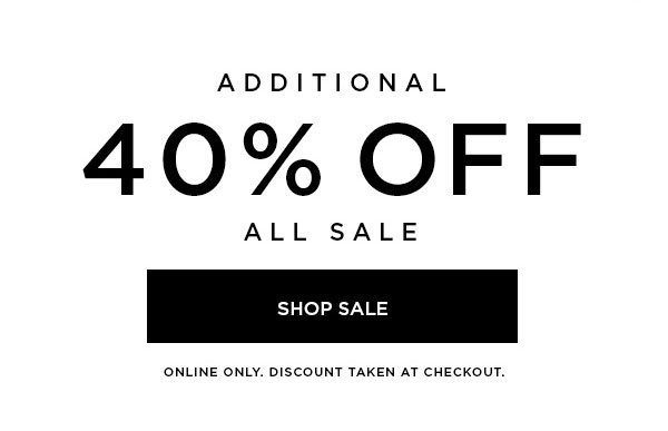 40% Off Shop Sale