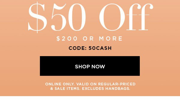 $50 Off Shop Now