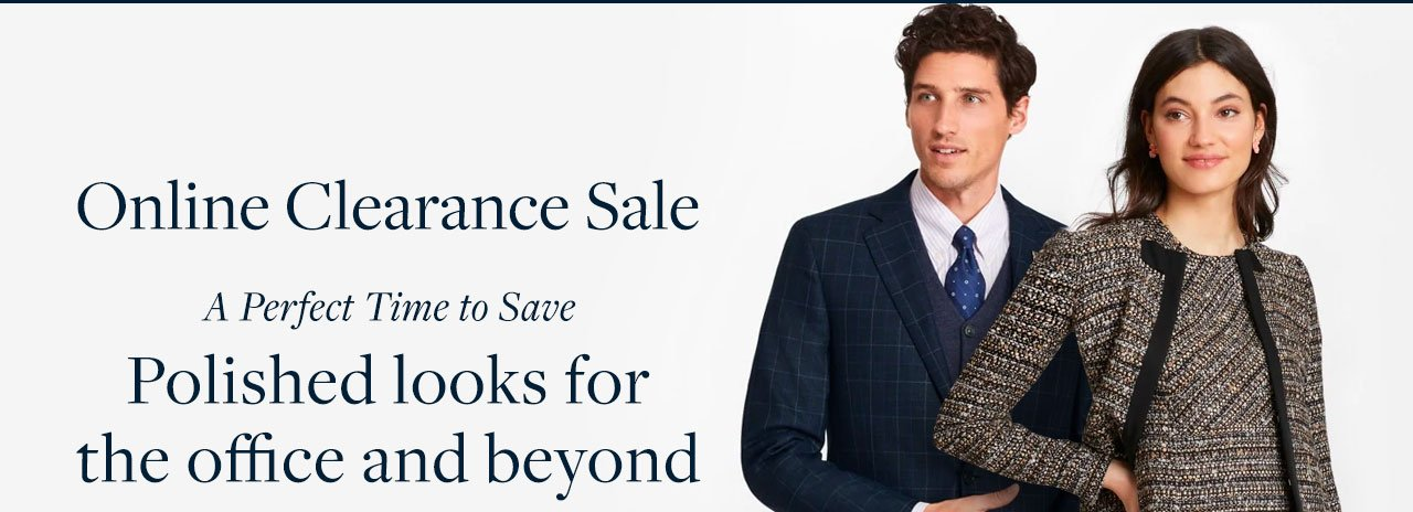 Online Clearance Sale A Perfect Time to Save Polished looks for the office and beyond.