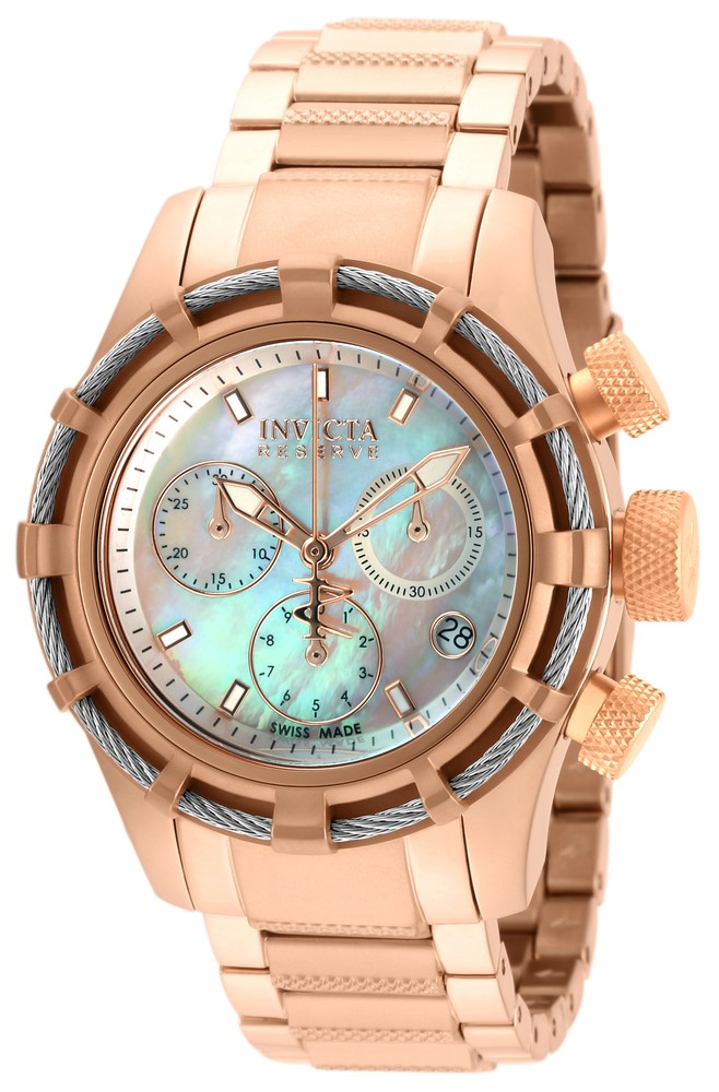 Invicta Bolt  Quartz Watch - Rose Gold, Stainless Steel case with Rose Gold tone Stainless Steel band